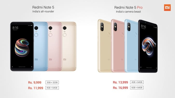 Публике официально представили Xiaomi Redmi Note 5 и Redmi 5 Plus